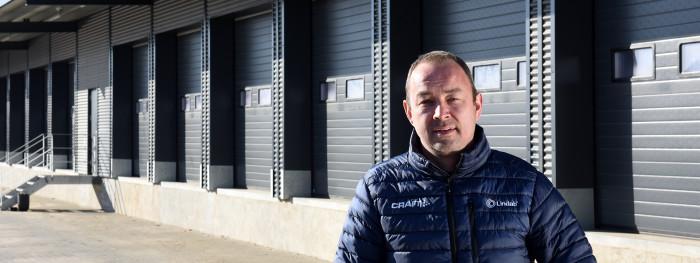 Brink Transport har fået et højisoleret lager i sit nye hovedsæde i Kolding.
