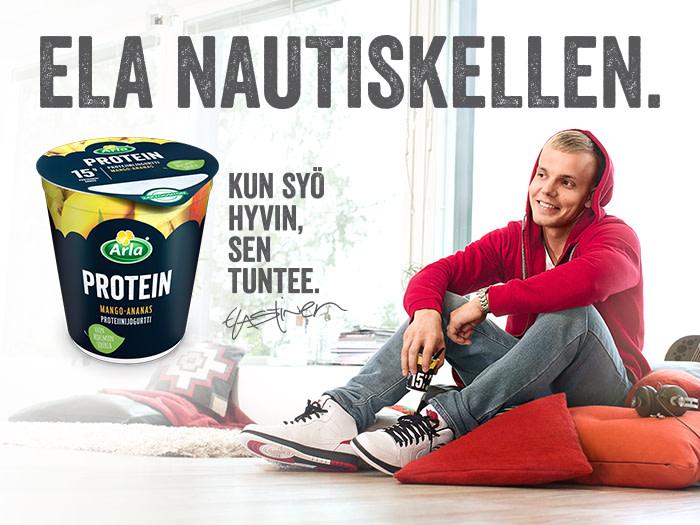 Uudet Arla Protein -jogurtit pitävät Elastisen vauhdissa