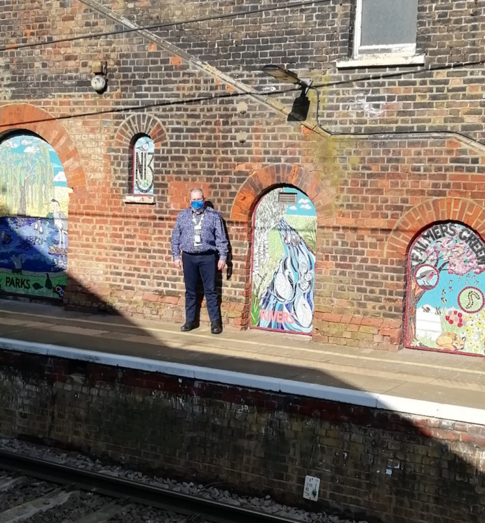 Celebrating the 'Green' in Palmers Green as a series of mosaic panels are unveiled in Palmers Green station