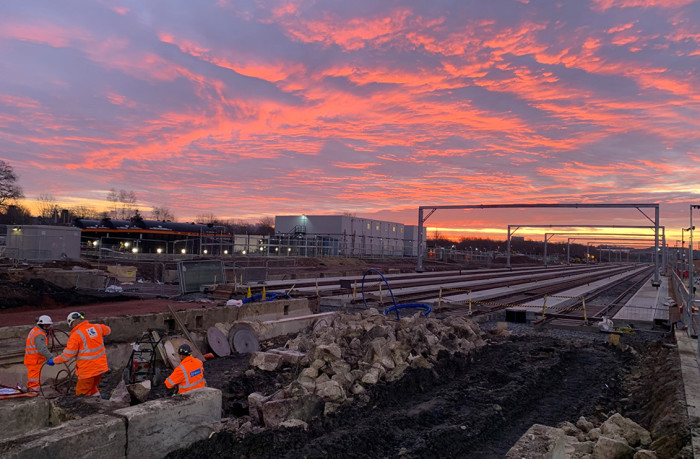 Eggcellent preparation for new Midland Main Line station takes place over Easter