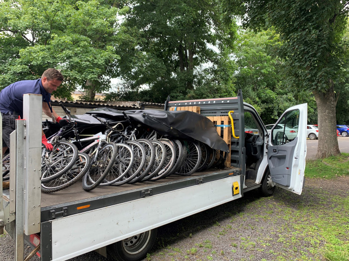 Abandoned bikes turned into wheels for West Herts NHS key workers