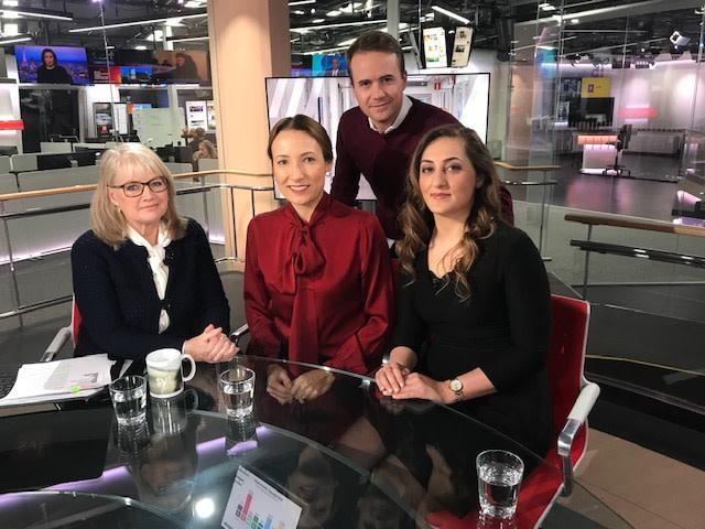Heidi Stensmyren i SVT Morgonstudion