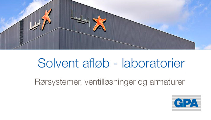 Solvent afløb - laboratorier - H. Lundbeck Pharma A/S