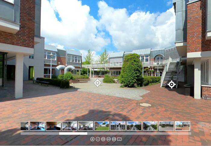 360°-Rundgang und Campusmap der Universität Vechta