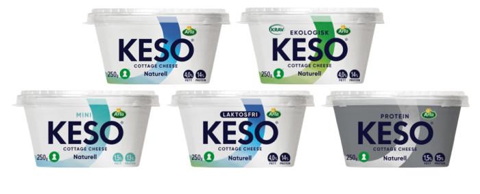 KESO® Cottage Cheese nu ett ännu lättare val i mejerihyllan