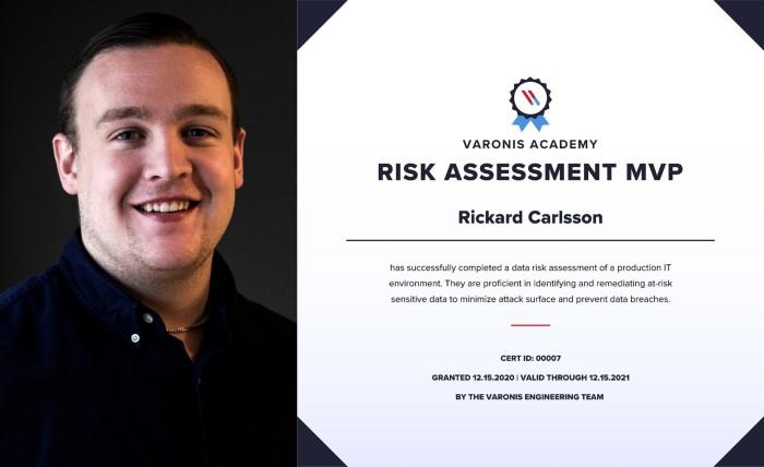Rickard Carsson Varonis Risk Assessment