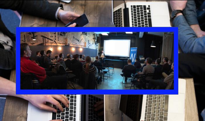 "Adrian Hornsby ""teknisk evangelist"" i AWS åpnet ballet i AWS User Group Trondheim med temaet ""Building IoT Applications for the Cloud""."