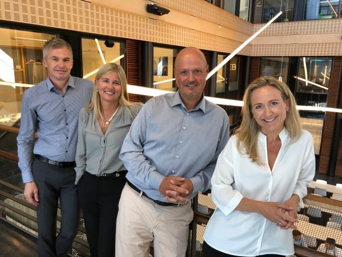 Fra venstre: Hans Sigvart Hansen, Anita Hansen, Kjetil Eriksen og Liv Annike Kverneland