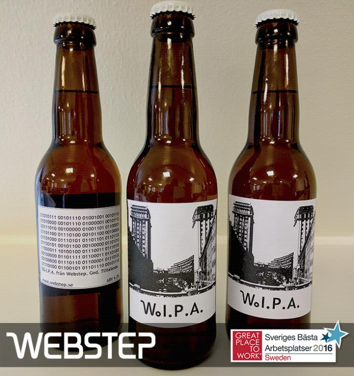 Glada i hågen presenterar vi på Webstep vår egenproducerade W.I.P.A. © 2017