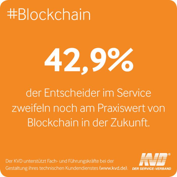 KVD Service Survey: Entscheider im Service zweifeln noch an Praxiswert von Blockchain