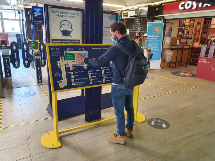 Hertfordshire and Sussex stations mapped for blind and partially sighted passengers