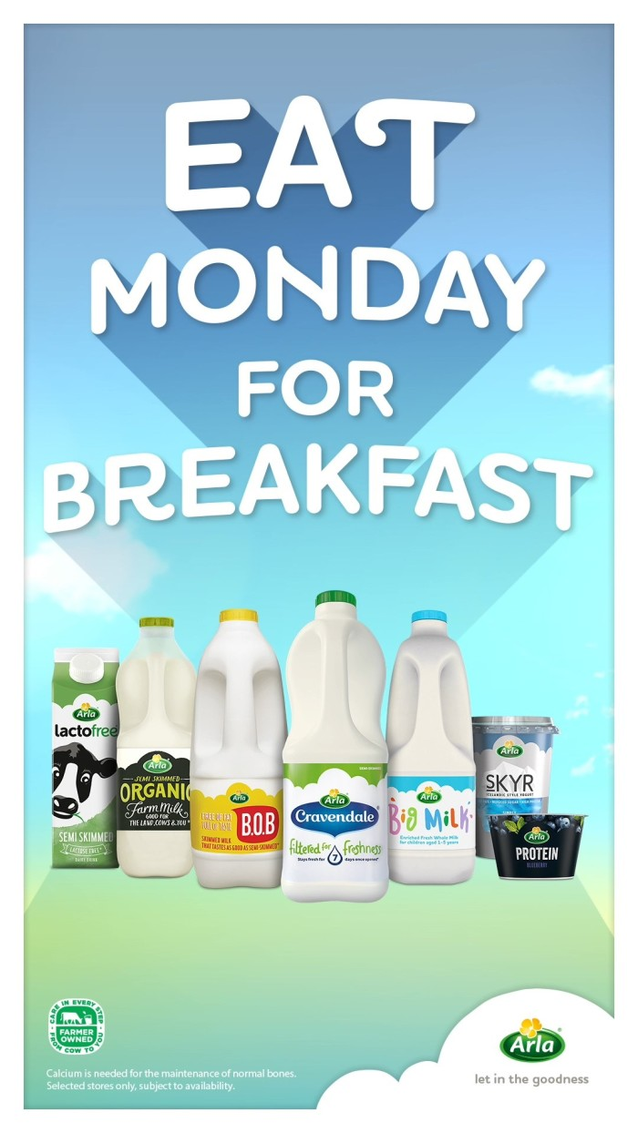 Arla Foods invites people to 'Eat Monday for Breakfast' with new campaign