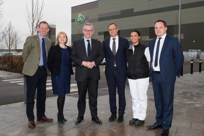 Environment Secretary tours Arla's net zero carbon dairy at Aylesbury