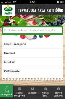 Arla Keittiön uusi reseptipalvelu valittiin vuoden 2012 parhaaksi mobiilipalveluksi