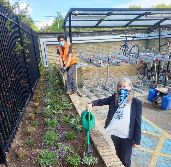 Bedfordshire station builds back greener for World Bee Day and beyond