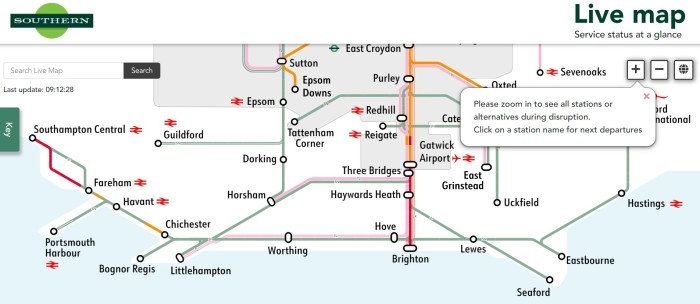 Govia Thameslink Railway improves journey planning by launching new Live Map function