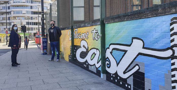 Dramatic mural is a statement of identity for East Croydon