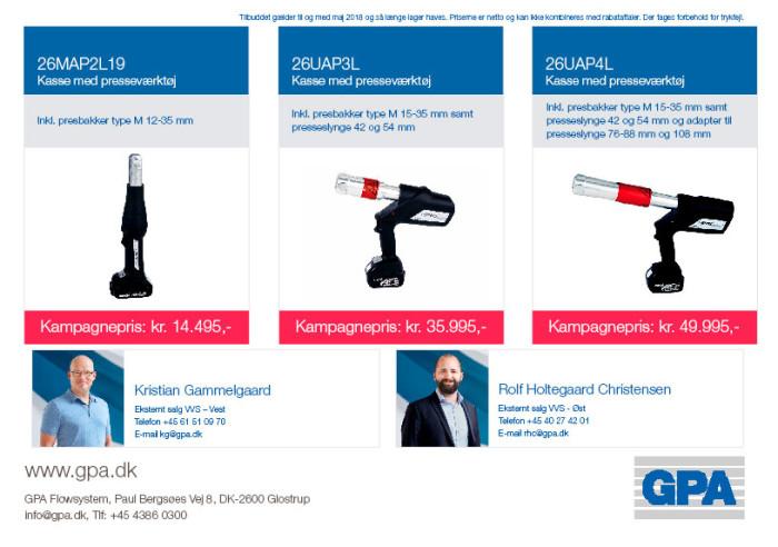 Kampagne Klauke presseværktøj