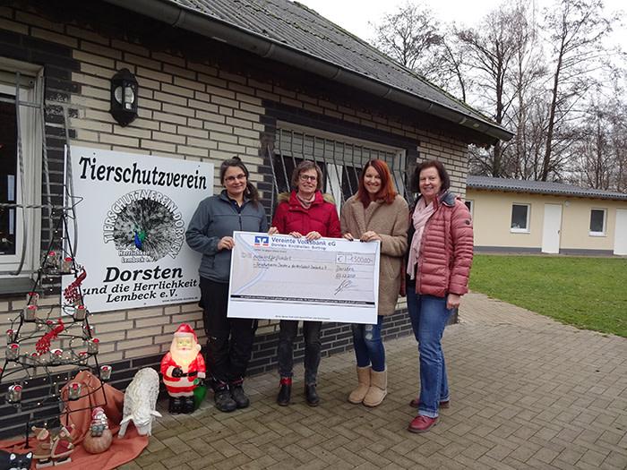 Statt Geschenke: KVD spendet für Tierschutzverein Dorsten und die Herrlichkeit Lembeck e.V.