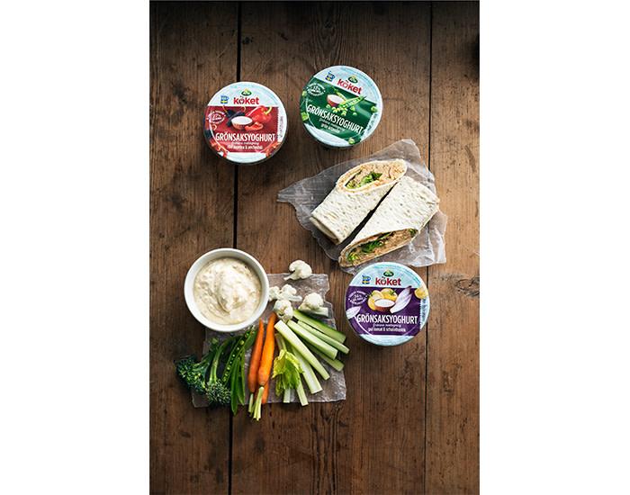 Nu blir det enklare att äta mer grönt:  Arla Köket® lanserar fräsch grönsaksyoghurt