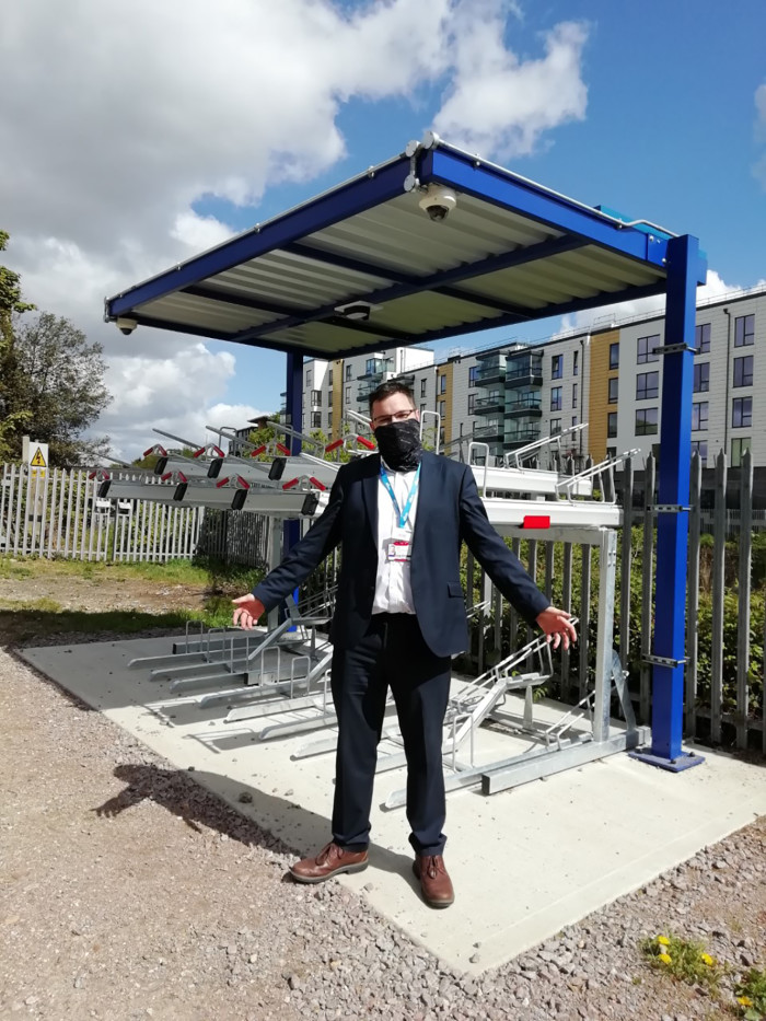 Solar power lights up cycle parking at New Southgate station