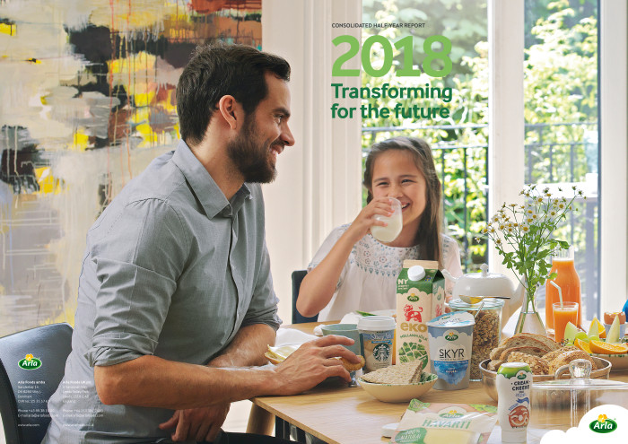 Arla Foods UK sees revenue growth of  2.3 per cent in the first half of 2018 with a net revenue of £961m (€1,093bn)