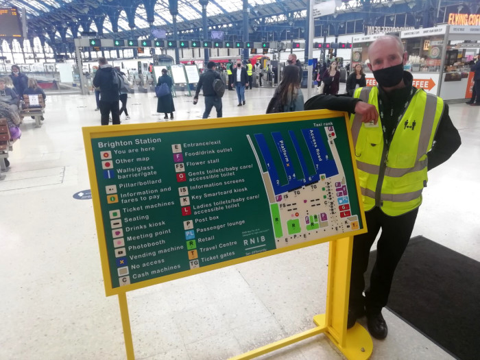Sussex and Hertfordshire stations mapped for blind and partially sighted passengers