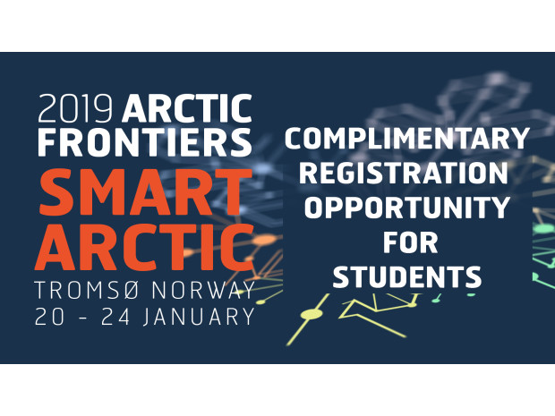 Arctic Frontiers is offering free registration for 10 bachelors/masters students
