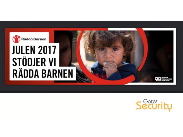 Gate Security stödjer Rädda Barnen