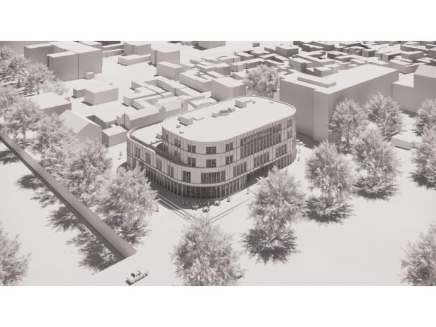 Nyréns och Gävle kommun visar planer på ny märkesbyggnad vid Slottstorget