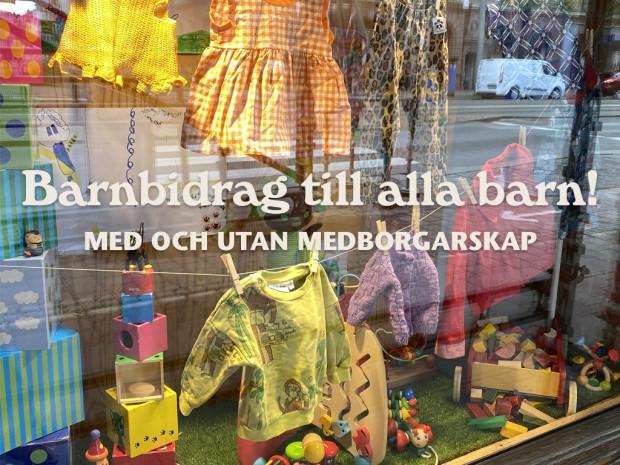 Second hand-kedja erbjuder rabatt på barnkläder till alla med och utan medborgarskap