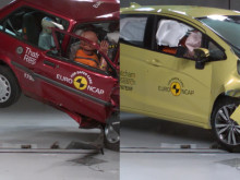 Euro NCAP 20th Anniversary – Thatcham Research crash tests the 1997 Rover 100 and a current Honda Jazz