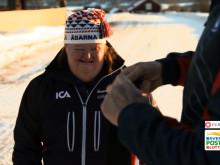 Thomas Wassberg och Anna-Greta Wikén tar en skidtur tillsammans
