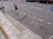 CCTV footage of suspects chasing victim