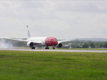 Norwegians Dreamliner lander i London