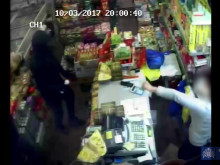 CCTV: Robbery at Hackney supermarket, 10 March