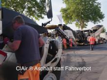 ClAir® Asphalt statt Fahrverbot – Pilotprojekt B313 in Stockach © Rainer Mann