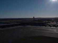Dronebilder av nye Oslo lufthavn - eksteriør