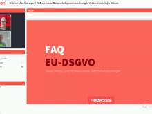 Webinar: FAQ zur neuen Datenschutzgrundverordnung in Kooperation mit der Bitkom