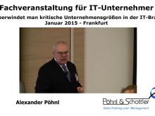 Bericht über den IT-Unternehmertag in Frankfurt am 30.1.2015