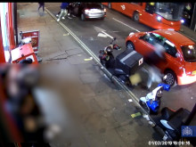 CCTV footage of fight between rival gangs.