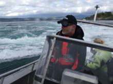 Honda fiskebåt Arronet i Saltstraumen, Norge med utombordsmotor BF250