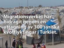 Uttagning av 300 kvotflyktingar i Turkiet