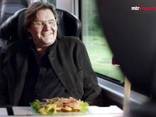 Johan Rabaeus förkroppsligar Stockholm i MTR Express reklamfilm