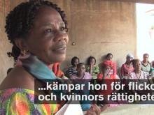 Filmklipp (59 sek) om 2017-års Per Anger-pristagare Gégé Katana Bukuru