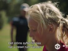 Santander Consumer Bank Sverige flög in Manchester United Soccer School till Sverige 2018
