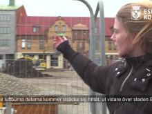 Konstnären berättar om sitt verk Omväg som ska pryda Stora torg i Eslöv