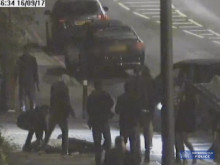 CCTV footage of the collision