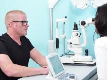 Heston Blumenthal's eye test at Vision Express