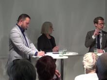 Debatt om bostadsbrist och marknadshyror fyllde arenan (Del 1)